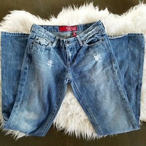 Guess Melrose distressed flare jeans